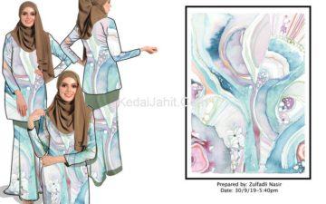 Fashion mockup baju kurung moden